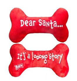 Lulubelle's Dear Santa Dog Bone Toy