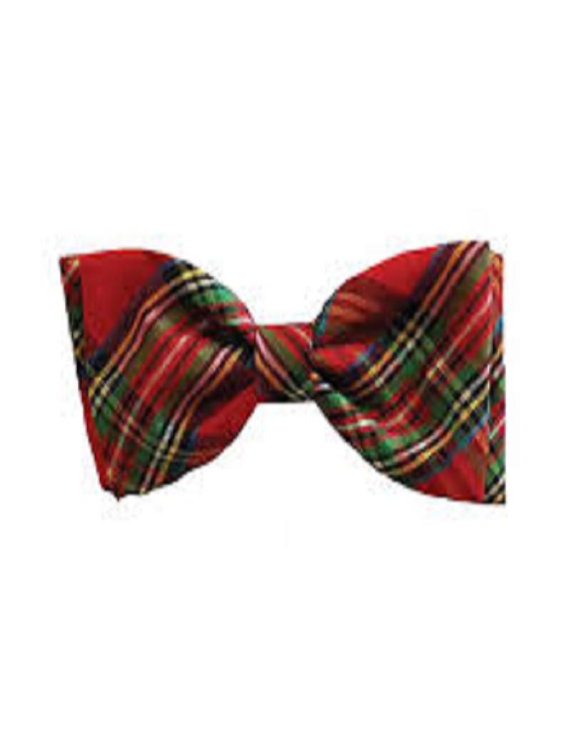 Huxley & Kent Red Plaid Bow Tie