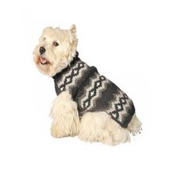 Chilly Dog Grey Diamonds Dog Sweater