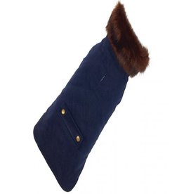 Up Country Dressy Blue Velvet Dog Coat