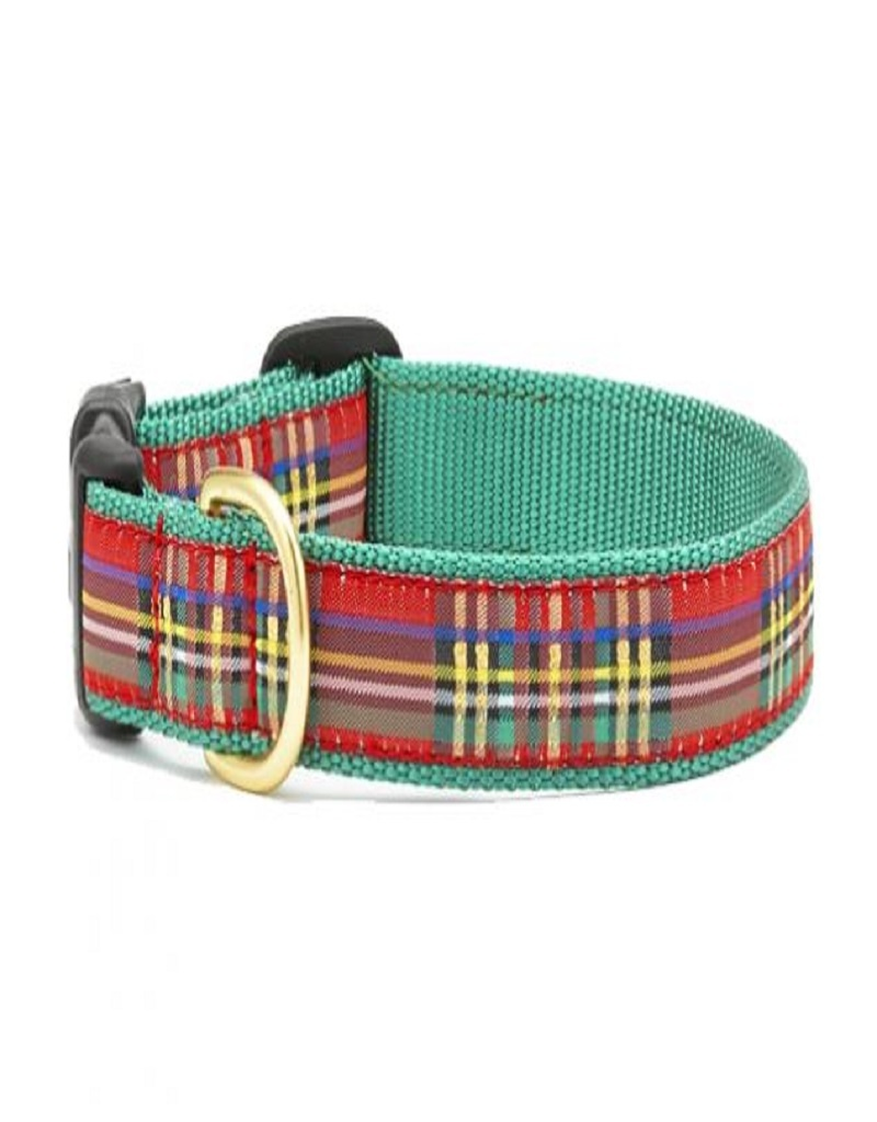 Up Country Christmas Sparkle Plaid Dog Collar