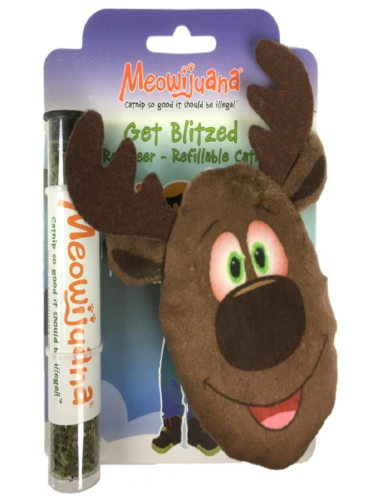 Meowijuana Get Blitzed Reindeer Refillable Cat Toy