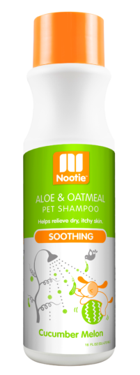 Nootie Soothing Aloe & Oatmeal Shampoo – Cucumber Melon, 16 oz.