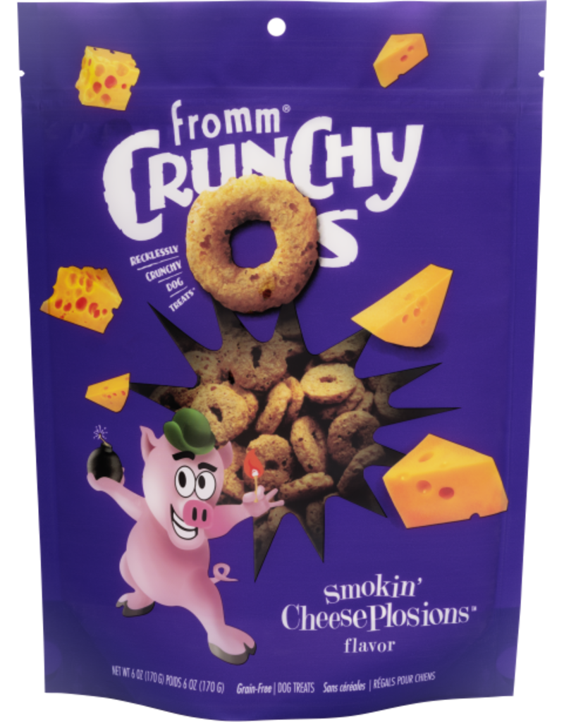 Fromm Grain Free Crunchy O's Smokin' CheesePlosions Dog Treats