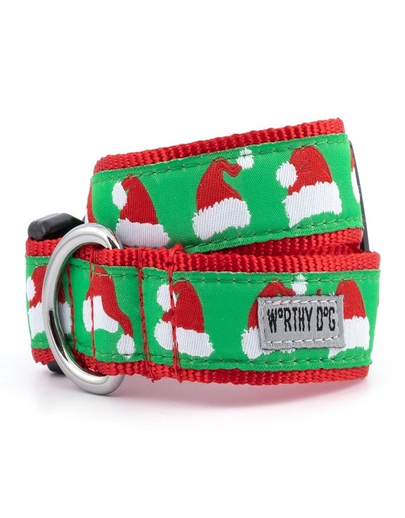 The Worthy Dog Santa Hat Dog Collar