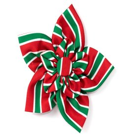 The Worthy Dog Holiday Stripe Pinwheel