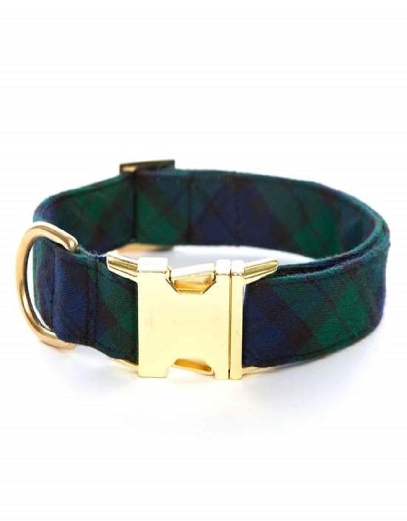 The Foggy Dog Blackwatch Plaid Dog Collar