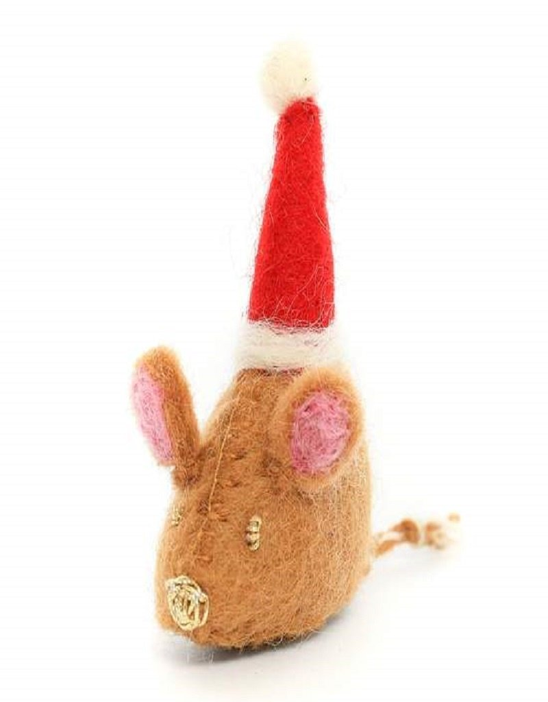 The Foggy Dog Santa Mouse Holiday Cat Toy