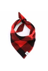 The Foggy Dog Red and Black Check Flannel Dog Bandana