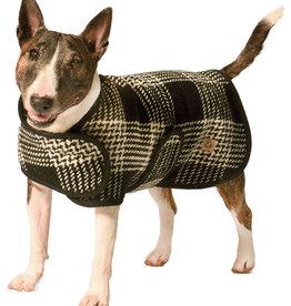 Chilly Dog Black and White Blanket Dog Coat