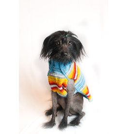 Chilly Dog Turquoise Serape Dog Sweater