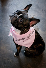 City Bark J'aime Detroit Pink Dog Bandana