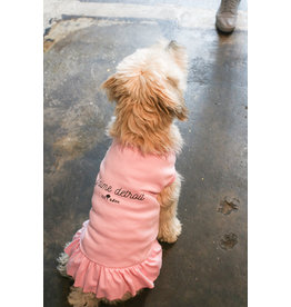 City Bark J'aime Detroit Pink Dog Dress