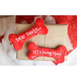 Lulubelle's Dear Santa Dog Bone Toy