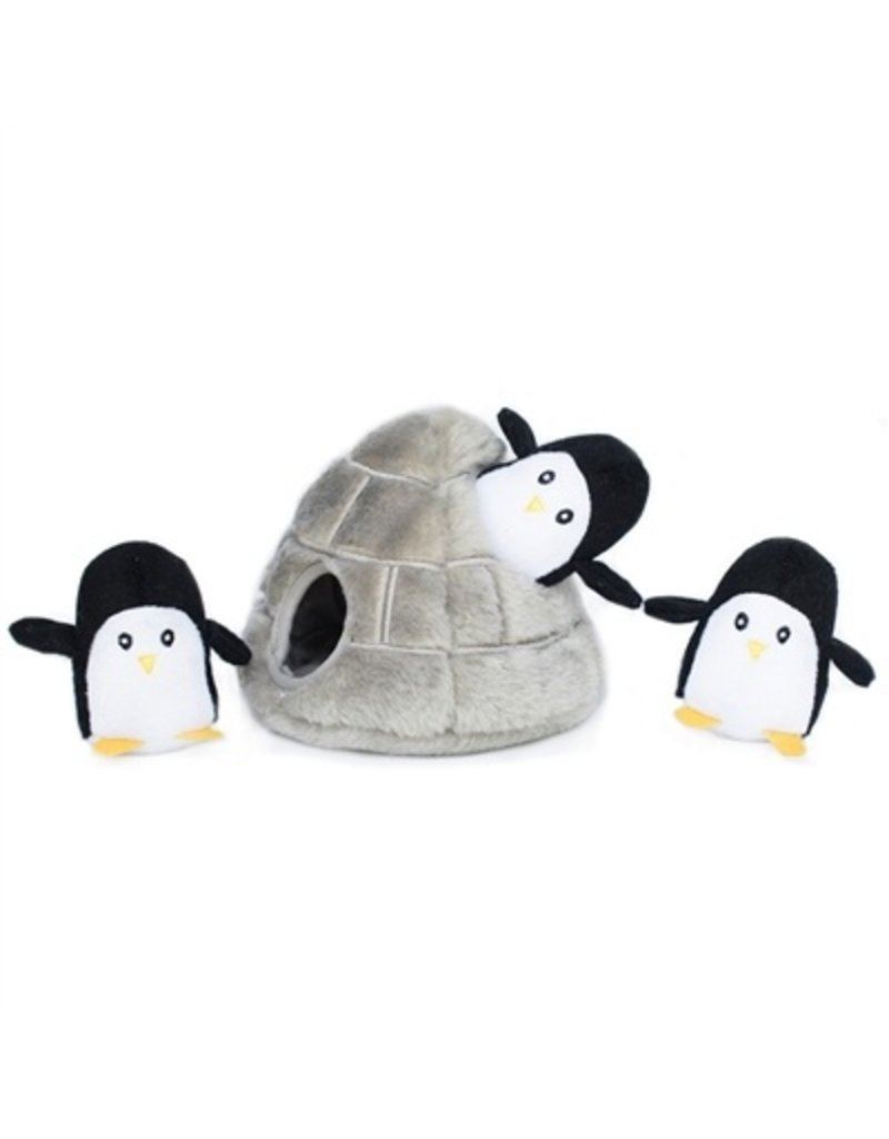 Zippy Paws Penguin Cave Burrow Dog Toy