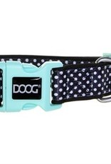 DOOG Black with White Dots Dog Collar