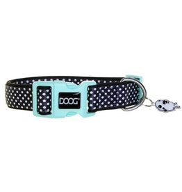 DOOG Black with White Dots Dog Collar