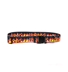 Yellow Dog Design Red Flames Dog Collar