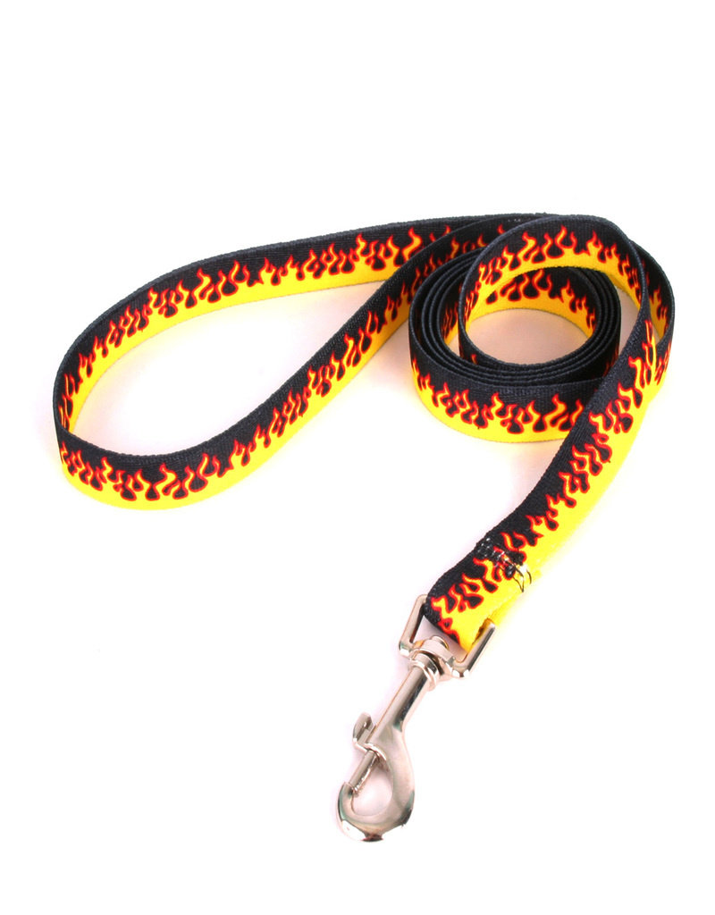 Yellow Dog Design Red Flames Dog Lead
