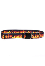 Yellow Dog Design Red Flames Cat Collar