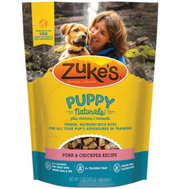 Zukes Puppy Naturals Pork & Chickpea Recipe Puppy Treats, 5 oz.