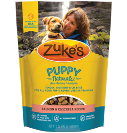 Zukes Puppy Naturals Salmon & Chickpea Recipe Puppy Treats, 5 oz.