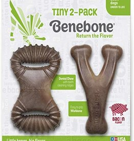 Benebone Bacon Flavored Tiny Dog Chew, 2 pack