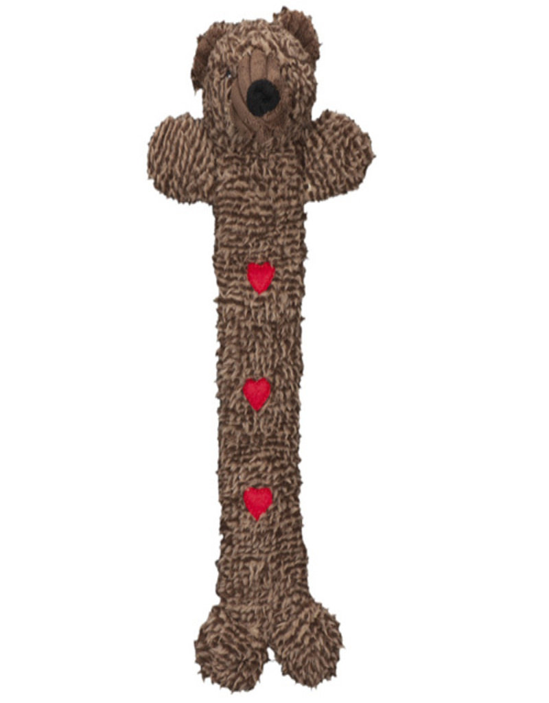 HuggleHounds Long & Lovely Cozy Cottage Bear Dog Toy