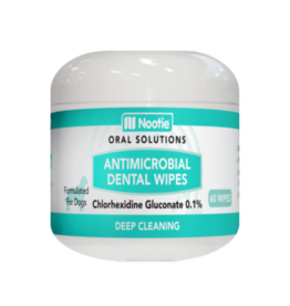 Nootie Antimicrobial Dental Wipes for Dogs, 60 count