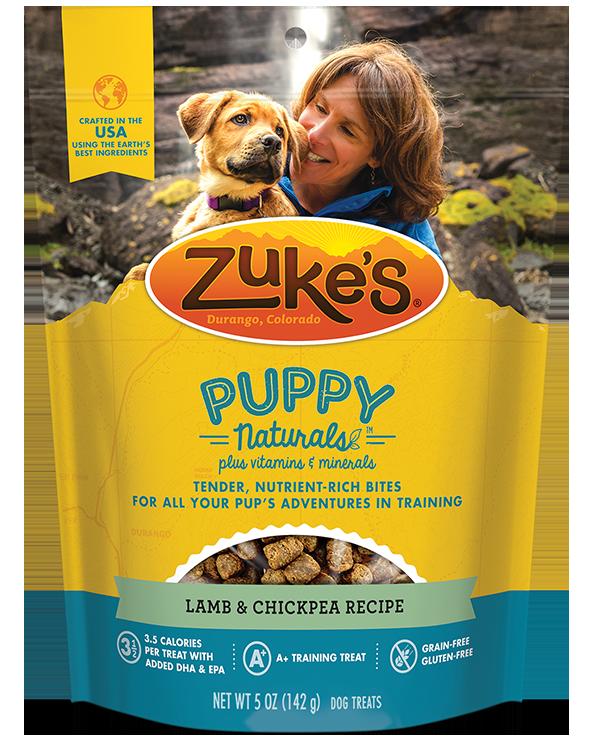 Zukes Puppy Naturals Lamb & Chickpea Recipe Puppy Treats, 5 oz.