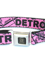 The Detroit Mercantile Co Bubblegum Detroit Seatbelt Dog Collar