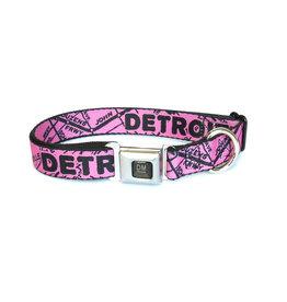 The Detroit Mercantile Co Bubblegum Detroit Seatbelt Dog Collar