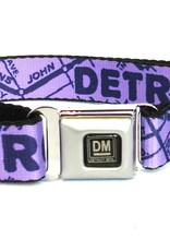 The Detroit Mercantile Co Lavender Detroit Seatbelt Dog Collar