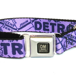 The Detroit Mercantile Co Lavender Detroit Seatbelt Dog Collar
