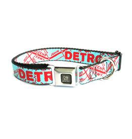 The Detroit Mercantile Co Turquoise Detroit Seatbelt Dog Collar