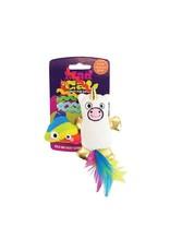 R2P Pet Mad Cat Mewnicorn & Rainbow Poop Catnip & Silvervine Cat Toy, 2 pack