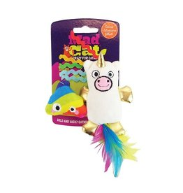 R2P Pet Mad Cat Mewnicorn & Rainbow Poop Catnip & Silvervine Cat Toy, 2 pack