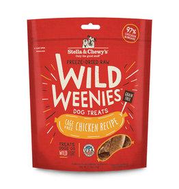 Stella & Chewy Cage-Free Chicken Recipe Wild Weenies Freeze-Dried Raw Dog Treats, 3.25 oz.