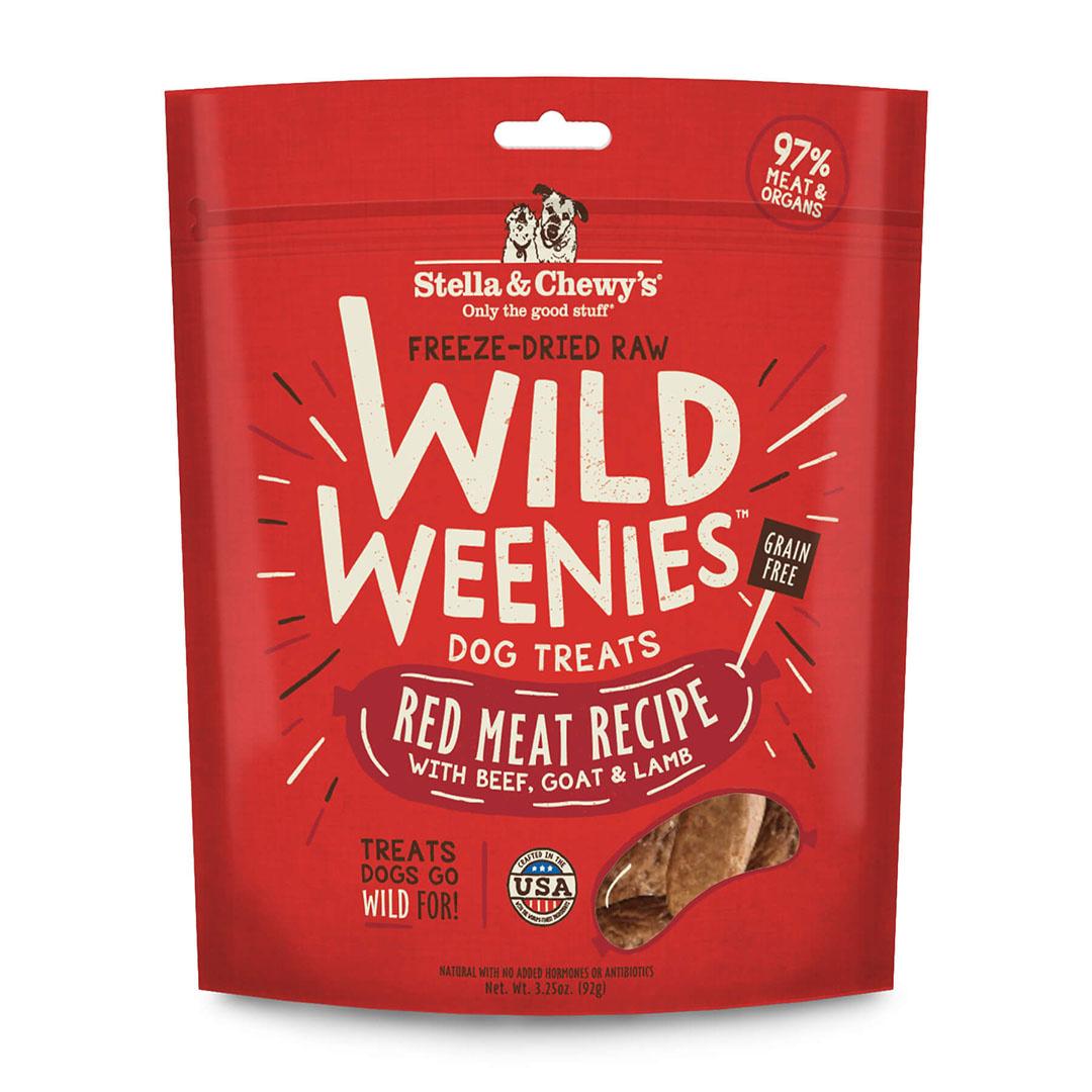 Stella & Chewy Red Meat Recipe Wild Weenies Freeze-Dried Raw Dog Treats, 3.25 oz.