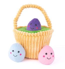 Zippy Paws Easter Egg Basket Dog Toy