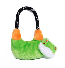 Zippy Paws Tree Frog Rope Hangerz Dog Toy