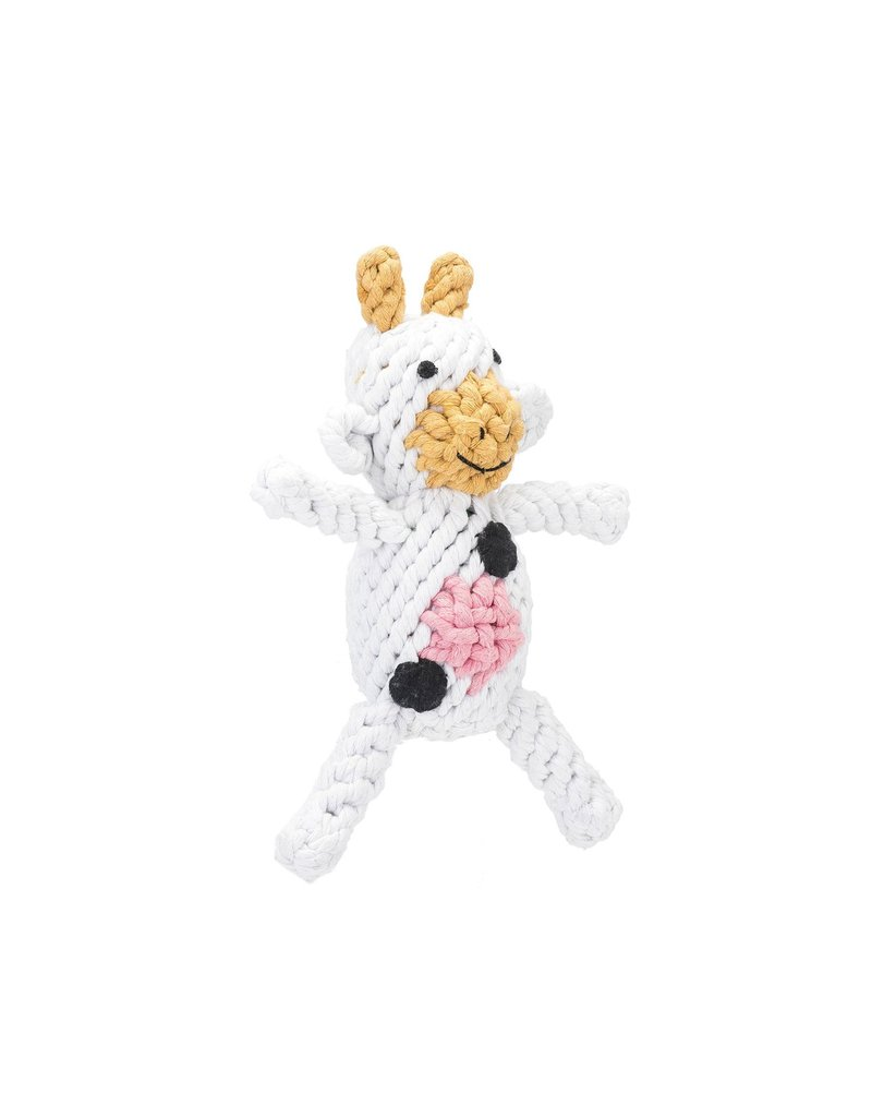 Jax & Bones Claire the Cow Rope Dog Toy