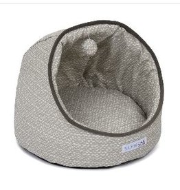 Jax & Bones Dottie Gray Comfy Cave Pet Bed