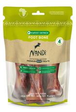 Nandi Karoo Ostrich Foot Bones for Dogs, 4 pack