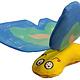 Yeowww! Blue Crinkly Butterfly Organic Catnip Toy