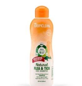 TropiClean Maximum Strength Natural Flea & Tick Dog Shampoo, 20 oz.