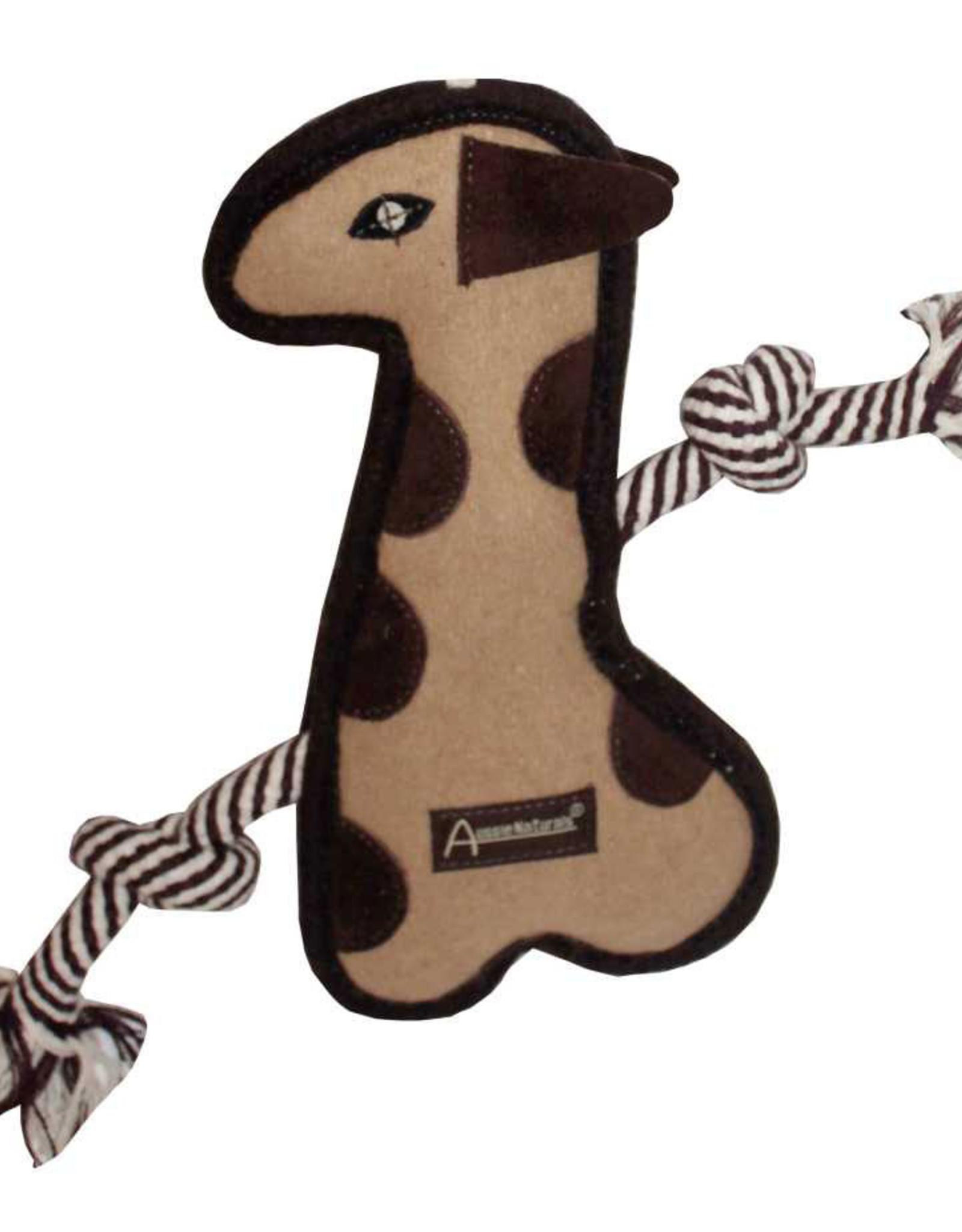 Aussie Naturals Tuff Mutts Giraffe Dog Toy