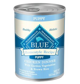 Blue Buffalo Homestyle Recipe Chicken Dinner with Garden Vegetables Puppy Canned Dog Food,12.5 oz