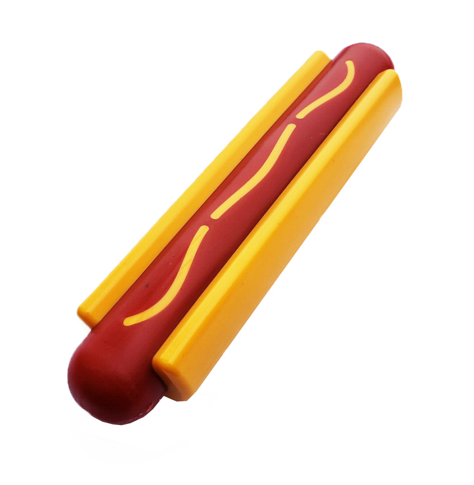 SodaPup Hot Dog Power Chewer Dog Toy