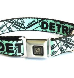 The Detroit Mercantile Co Mint Detroit Seatbelt Dog Collar